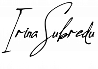 semnatura irina subredu website